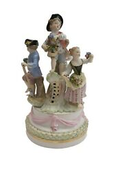 Big 19th Ce. Meissen Porcelain Group - Of Children With Flowers And039 - B60