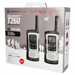 Motorola T260 Talkabout Rechargeable 2-way Radio White Fast Shipping