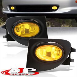 Amber Driving Bumper Fog Lights Lamps + Switch For 2002-2005 Honda Civic Ep3 Si