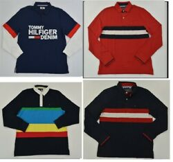 NWT Men#x27;s Tommy Hilfiger Long Sleeve Rugby Polo Shirt Multi XS 3XL $40.00
