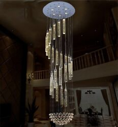 Yc.crystal raindrop LED Living Room stair bubble crystal ceiling light Hall Lamp