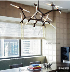 Agnes 6and10and14and20 Lights Glass Tube Suspension Lamp Room Light Gold Lighting Yc