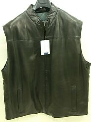 Rochester Big And Tall By Remy Reversible Lambskin Leather Vest Size 2xl - New