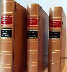 Thomas Hutchinson / History Of The Colony Of Massachusetts-bay From The First