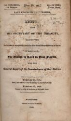 Land Claims In East Florida Letter From The Secretary Of The Treasury...in 1st