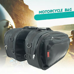 Motorcycle Saddle Bags Luggage Pannier Waterproof Helmet Tank Bags + Rain Cover