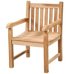 24 W Alighiero Chair 100 Unfinished Hand Crafted Solid Teak Wood Natural