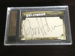 2011 Famous Fabrics Ink William Holden Cut Auto 1/1 Hooray For Hollywood Rare
