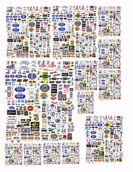 Small Ford,chevy Plymth,mopar Decals For Diecast Cars And Diorama