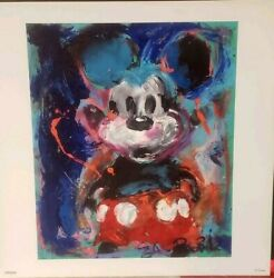 Eric Robison 100 Mickey Mouse 49/100 Vintage Look Color Lithograph 7 X 7
