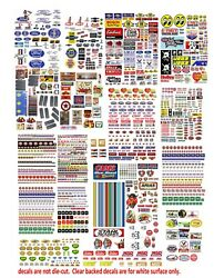143 Ford, Chevy Decals For Matchbox , Small Models And Dioramas