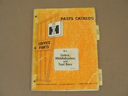 Parts Catalog International Harvester Tb-2 Listers Middlebusters Tool Bars 1970