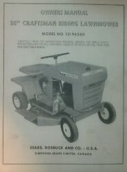 Sears Craftsman Riding Lawn Mower Owner Parts And Engine 2 Manual S Tractor