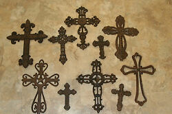 10 Rustic Old Spanish Mission Style Wall Cross Collectioncast Iron Wall Cross