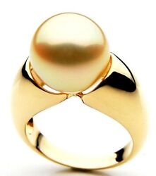 New Pacific Pearlsandreg 14mm Australian Golden South Sea Pearl Ring Valentines Gifts