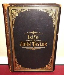 Matthias F. Cowley Signed LDS Mormon Book Life of John Taylor 1892 1STED Leather