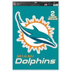 Miami Dolphins Macbook Laptop Multi Use Removable Reusable Decals Wincraft 🐬