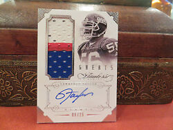 Panini Flawless Autograph Jersey Greats Giants Auto Lawrence Taylor 09/25 2014