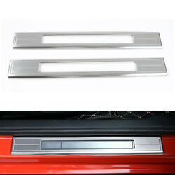 Stainless Steel Door Sill Scuff Plates Fit For Ford Mustang 2015-2018 2019 4pcs