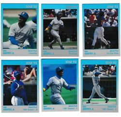 Lot Of 101992 Star Company Ken Griffey Jr 11 Card Glossy Sets Factory Sealed
