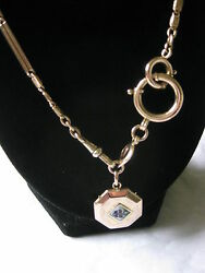 Antique Yellow Gold Long Chain/locket Total Wt 22.5 Grams Appraised
