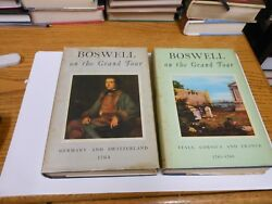 Boswell On The Grand Tour 2 Vols Germany And Switzerland + Italy Corsica And France