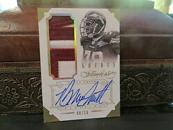 Panini Flawless Gold Autograph Jersey Redskins Auto Bruce Smith 08/10 2014