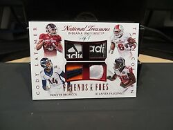 National Treasures Friends And Foes Indiana Cody Latimer Tevin Coleman 1/1 2015