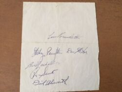 Chicago Cubs Autographs, Seventeen Players, From The Mid 1960s