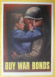 Kappysstamp Rare Wwii Buy War Bonds Poster By Abbott Laboratories