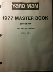 Yard-man/ Mtd 990 Garden Tractor Implement Attachments Service Parts Manual 1977