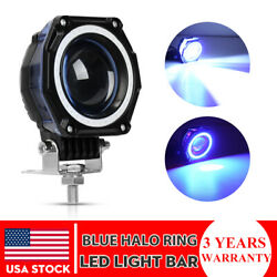 3inch 35W Round CREE LED Work Light Pods Spot Driving Lamp Blue DRL Offroad 4WD