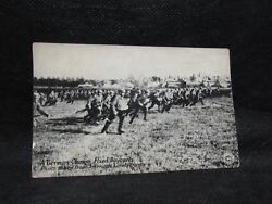 Ww1 Rppc German Soldiers Charging To War With Bayonets Military Real Photo Franc