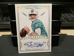 National Treasures Signatures Autograph Dolphins Ryan Tannehill 06/10 2015