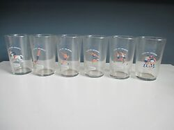 Rare Set Of 6 Drinking Glasses 1968 Mexico Olympic Games Olympics
