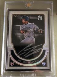 2018 Topps Museum Gleyber Torres Black Frame Rc Autograph Auto 2/5 Yankees Rare
