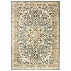 8and039 X 11and039 Karastan Machine Woven Area Rug Rhodes Ash Grey Multi Traditional