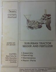 Sears Suburban Lawn Garden Tractor 3-point Implements Owner And Parts 8 Manual S