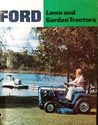 Ford Lgt 100 120 125 145 165 Lawn Garden Tractor Color Sales Brochure Manual And03974