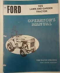 Ford Lgt 165 Lawn Garden Tractor Owner And Parts 2 Manual S 1972-1977 Open Sided