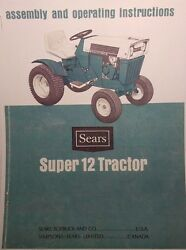 Sears Suburban Ss/12 Tractor And Engine Ownersparts Service 4 Manuals917.25311