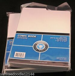 50 Csp Comic Book Tabbed Dividers For Comic Cardboard Storage Boxes