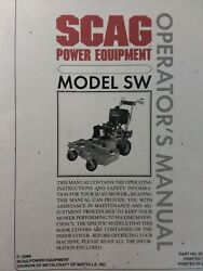 Scag Walk-behind Sw Lawn Mower Garden Tractor Owner And Parts Manual Sn C3000001-