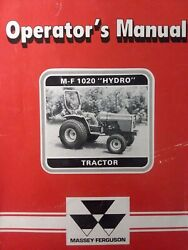 Massey Ferguson Mf 1020 Hydro 2wd And 4wd Diesel Compact Tractor Owners Manual