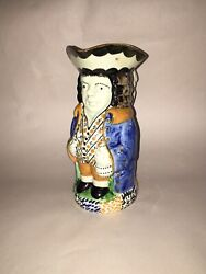 Staffordshire Pearlware Yorkshire Toby Pitcher Pratt Colors Ca. 1810