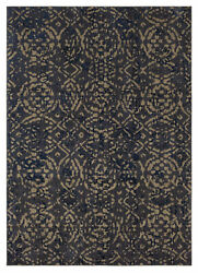 10and039 X 13and039 Karastan Machine Woven Area Rug Block Print Ink Blue By Patina Vie