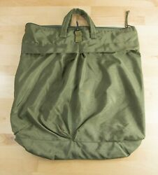 Us Army Military Issue Rare Vintage Green Large Nylon Lined Padded Flight Bag