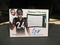 National Treasures Rookie Autograph Jersey Jaguars T.j. Yeldon 16/24 2015