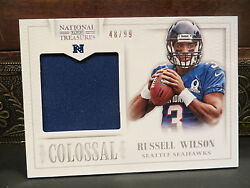 National Treasures Colossal Jersey Pro Bowl Seahawks Russell Wilson 48/99 2013
