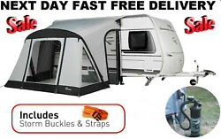 New 2021 Dorema Quick N Easy Up 265 Air Inflatable Caravan Porch Awning And Pump